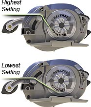 Adjustable Levelwind Positions